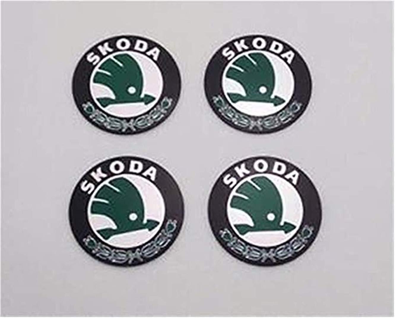 fanlinxin 4 pieces 56mm car hub center hub caps trim car emblem stickers part for skoda