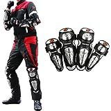 Cofit Motocicleta Rodilleras Codos Protectores Anti-Caída para Motocross Ciclismo Deportes al Aire Libre Conjunto Negro