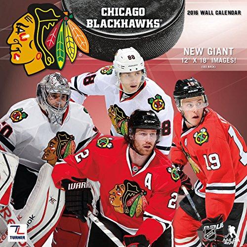 """Turner Chicago Blackhawks 2016 Team Wall Calendar, September 2015 - December 2016, 12 x 12"""" (8011936)"""
