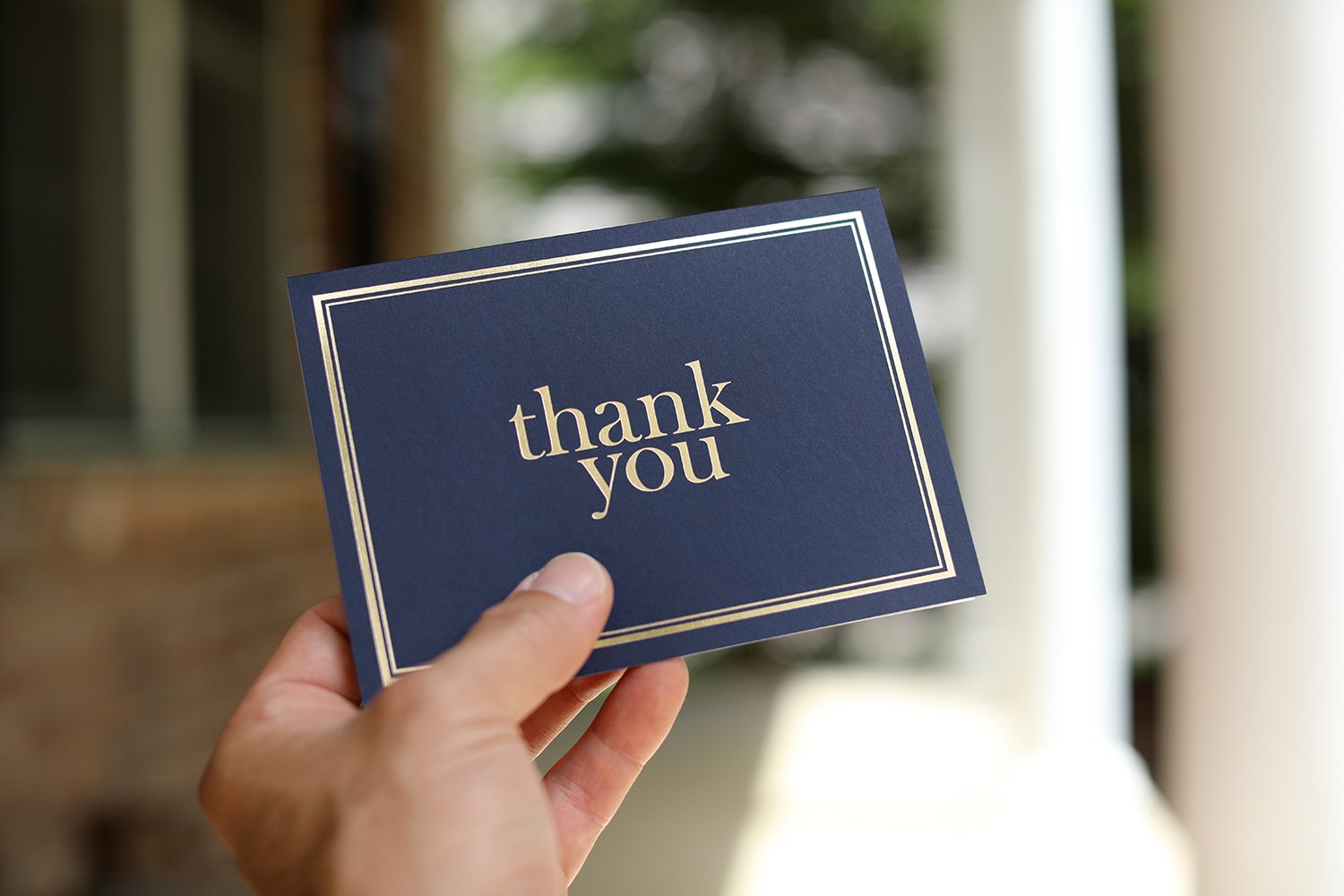 100 Thank You Cards Bulk - Thank You Notes, Navy Blue & Gold - Blank Note Cards with Envelopes - Perfect for Business, Wedding, Gift Cards, Graduation, Baby Shower, Funeral - 4x6 Photo Size by Spark Ink (Image #3)