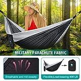 CozyHoliv Camping Hammock, Single Portable