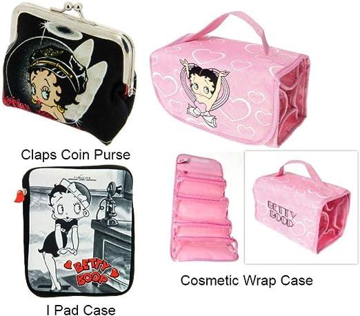 Betty Boop Monedero Negro, Estuche para cosméticos Rosa y Funda Negra para iPad, Paquete de Regalo: Amazon.es: Hogar