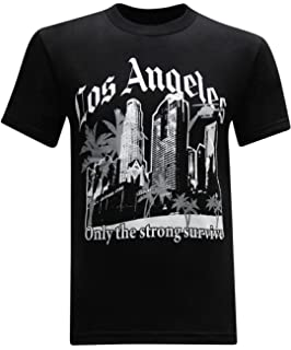 tees geek California Republic Los Angeles Only The Strong Survive Men s  T-Shirt cc8ae1b38796