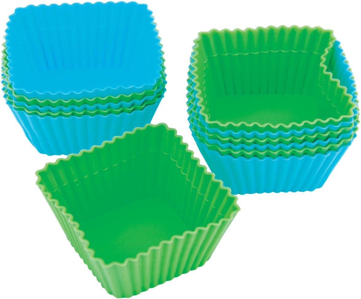 طقم أكواب خبز مربعة الشكل من السيليكون من ويلتون، مكون من 12 قطعة