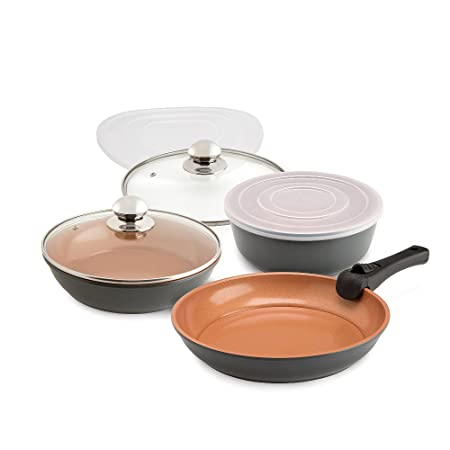 Grey Cookshop Copperglaze Oven To Table Pan Set: Amazon.co.uk ...