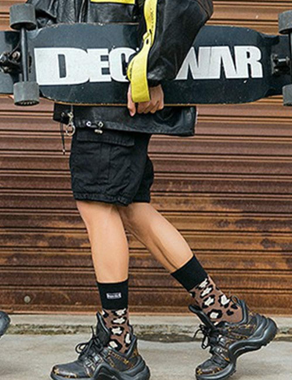 SOMTHRON Femmes Chaussettes en Coton Rigolos avec Broderie Automne Hiver