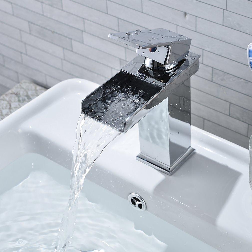 LESHP Basin Mixer Tap Chrome Bathroom Sink Single Lever Faucet ...