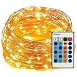 Amyhome 100 LED String Lights with eBook, 33-Feet, Warm White