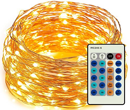 Amyhome 100 LED String Lights with eBook, 33-Feet, Warm White (Cheap Costume Ideas Halloween)