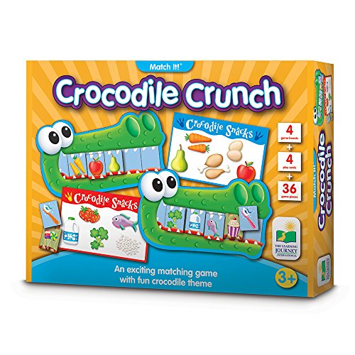 The Learning Journey - Educational Game - Crocodile Crunch - Fast Paced Healthy Eating Matching & Memory Game
