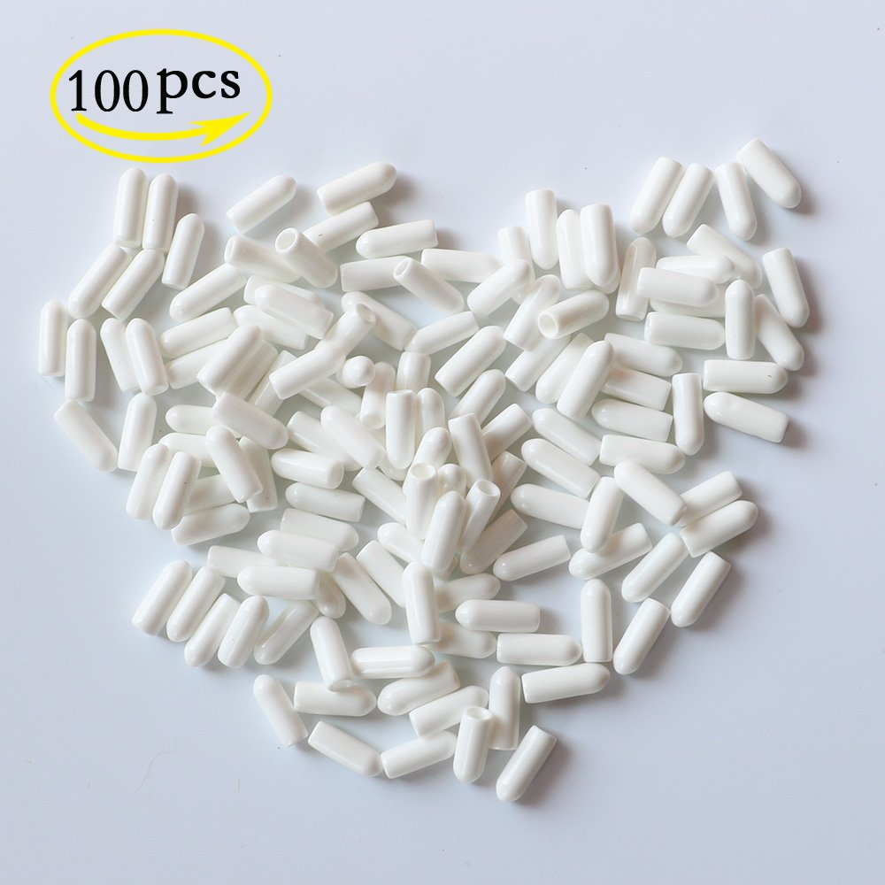 YEJI 100 Pcs #8 White Screw Thread Protectors