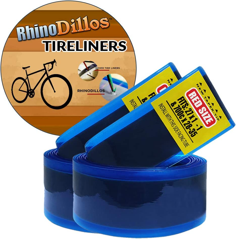 """Two 700/"""" Road Fixie Bicycle Inner Tube Protector Tire Liner Puncture Proof Bike"""
