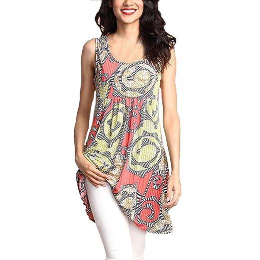 6b2b3aaad6e2 Womens Casual Plain Round Neck Sleeveless Vest Tank Dress Ladies Tunic Tops  T-Shirt Shirts Plus Size Summer Clothes Size 10-26  Amazon.co.uk  Clothing