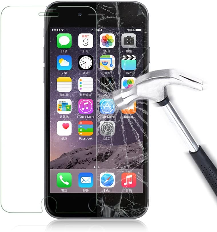 2017 iPhone 8 Tempered Glass Screen Protector - Crystal Clear LUVVITT Tempered Glass Screen Protector for Apple iPhone 8