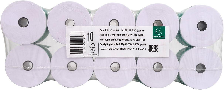 Exacompta Calculator Receipt Roll 10 Rolls 74 m x 44 m