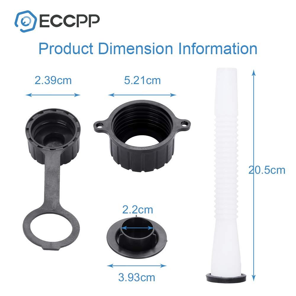 ECCPP 3pcs Replacement Gas Can Spout Parts Vent Cap Gasket Stopper Spout Cap