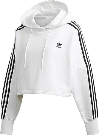 adidas Originals Damen Cropped Hoodie Weiß