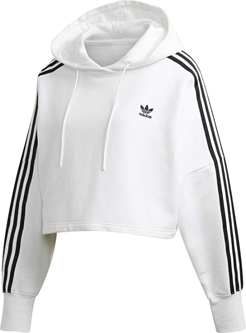adidas Cropped Hood Sweat a' Capuche pour Femme Blanc ED7555 ...