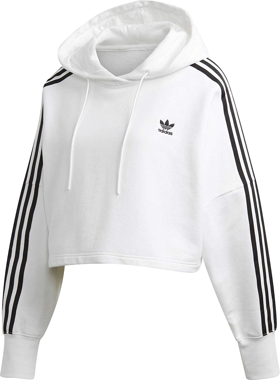 Adidas Cropped Felpa con cappuccio