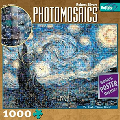 Buffalo Games Photomosaic Starry Night
