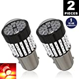 LUYED 2 x 900 Lumens Super Bright 1157 3014 78-EX Chipsets 1157 2057 2357 7528 LED Bulbs Used For Tail Lights,Brake Lights and Turn Signal Lights,Red