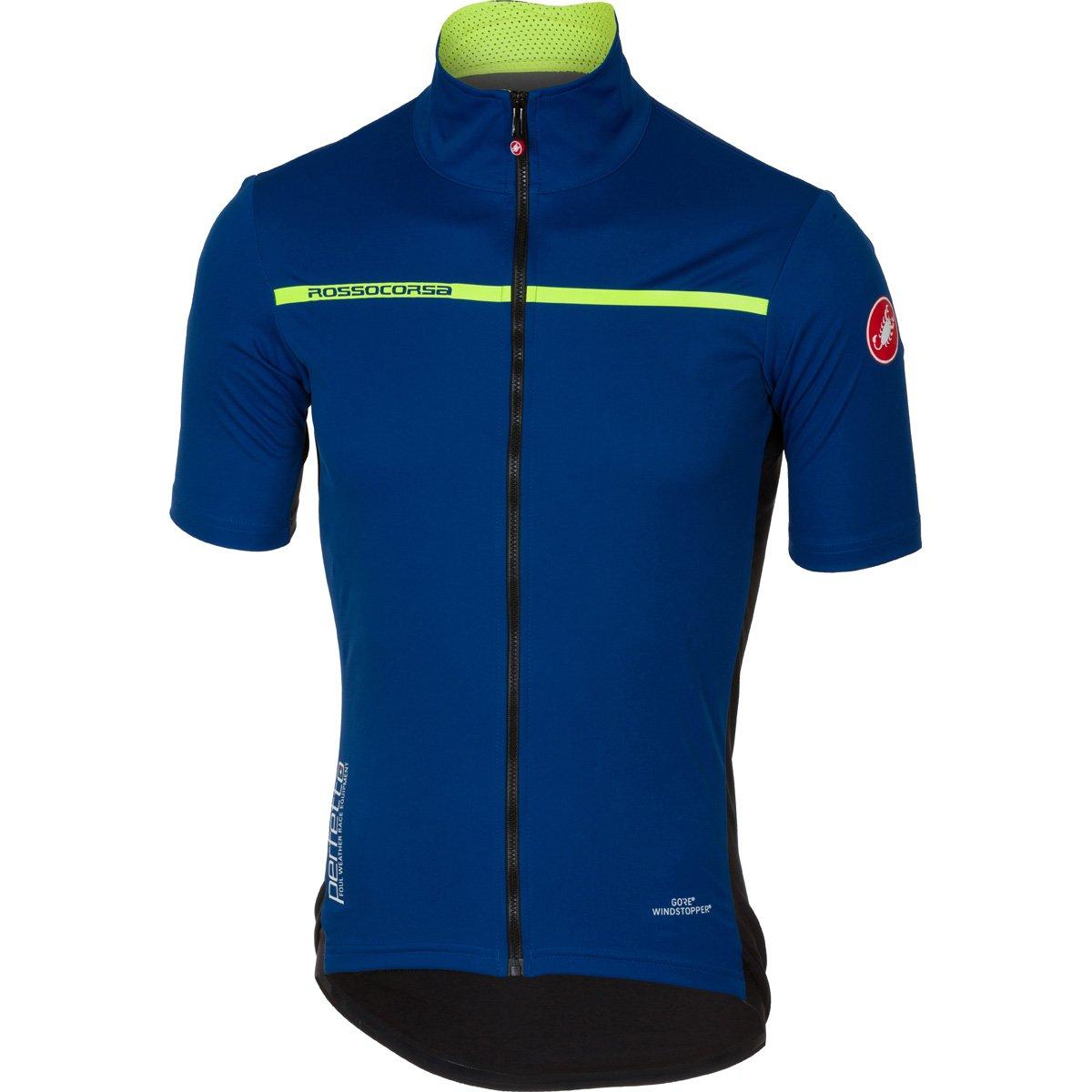Castelli 2017 メンズ Perfetto 軽量半袖サイクリングジャケット B17085 B075ZM94B4 Medium|セラミックブルー セラミックブルー Medium