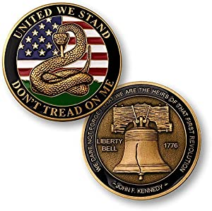 Don't Tread on Me - Liberty Bell Challenge Coin from Northwest Territorial Mint