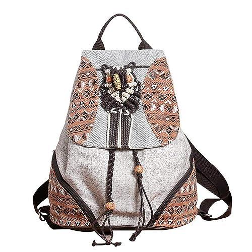 VHVCX Vintage Geométrica De Las Mujeres Viaje Mochila Casual Rebordear Mochila Bookbag Para Adolescentes Flecos Hechos A Mano Satchels: Amazon.es: Zapatos y ...