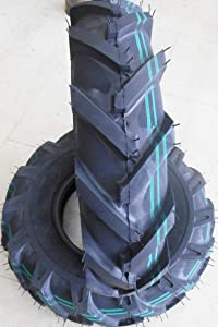 SET OF 2 NEW 4.00-8 4.80-8 4.80/4.00-8 Tubeless R-1 Lug Garden Tiller Tires 4 ply Rated Heavy Duty