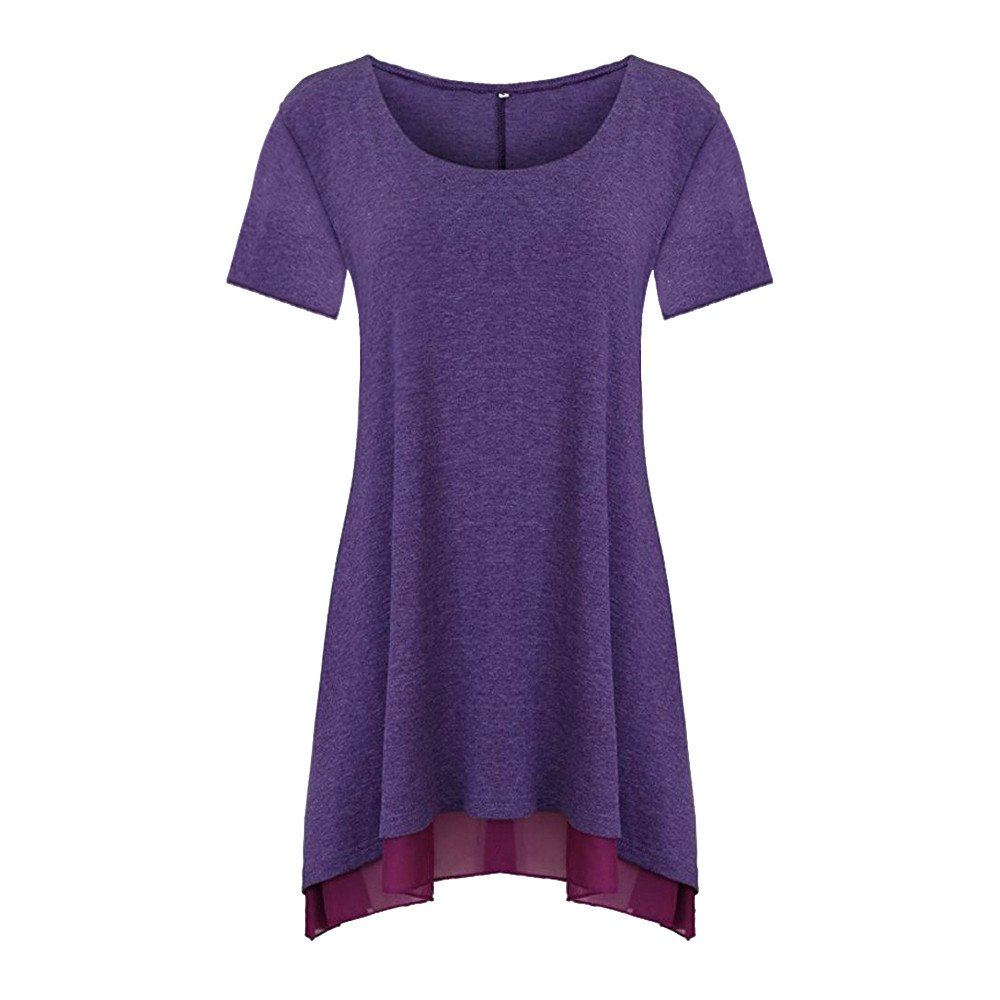 2019 Woman Summer Casual Solid Lace V-Neck Shirt Blouse Loose Tops T-Shirt HTDBKDBK Short Sleeve Shirt for Women