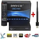 DVB-S2 Satellite TV Receiver Digital Satellite Finder Free to Air FTA 1080P HD Satellite signal Receptor + USB WiFi (V9S PRO)