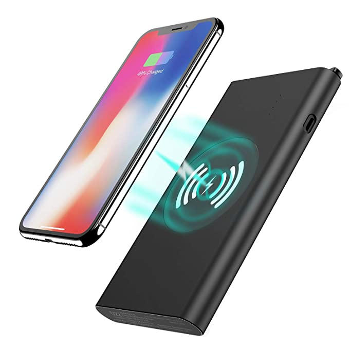 factory authentic aa018 eb750 Wireless Charger Power Bank, Tech Care 10000mAh 3 in 1 Fast Charging Power  Bank Qi Wireless Battery Pack Portable Charger for iPhone X/8/8 Plus, ...