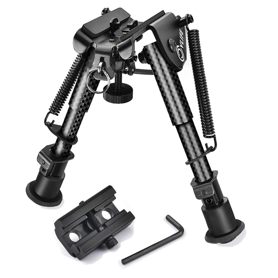 CVLIFE 6-9 Inches Carbon Fiber Rifle Bipod with Picatinny Adapter by CVLIFE