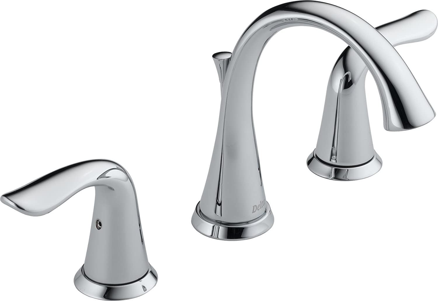 Delta Faucet 3538 MPU DST Lahara Two Handle Widespread Bathroom Faucet,  Chrome   Touch On Bathroom Sink Faucets   Amazon.com