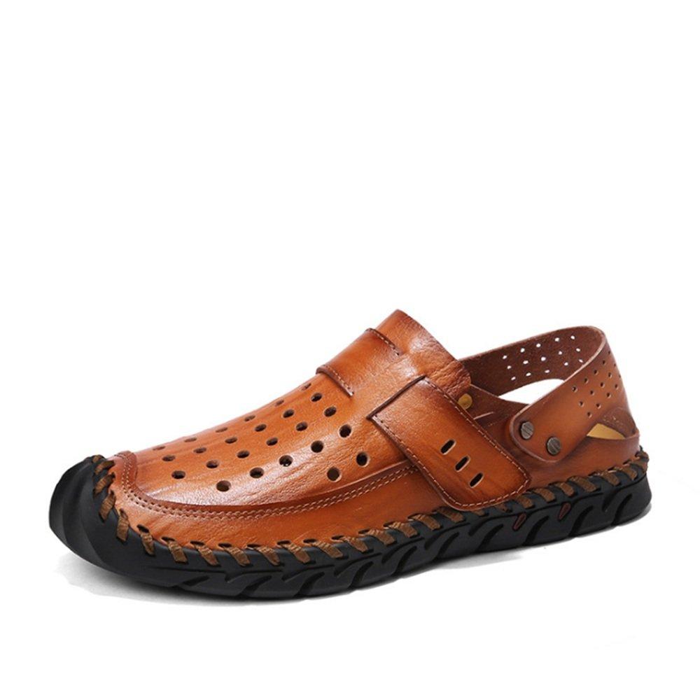 Sandalias De Los Hombres De Verano Antideslizantes De Doble Uso Zapatos De Playa Huecos Transpirables (24.0-27.0) CM Marrón