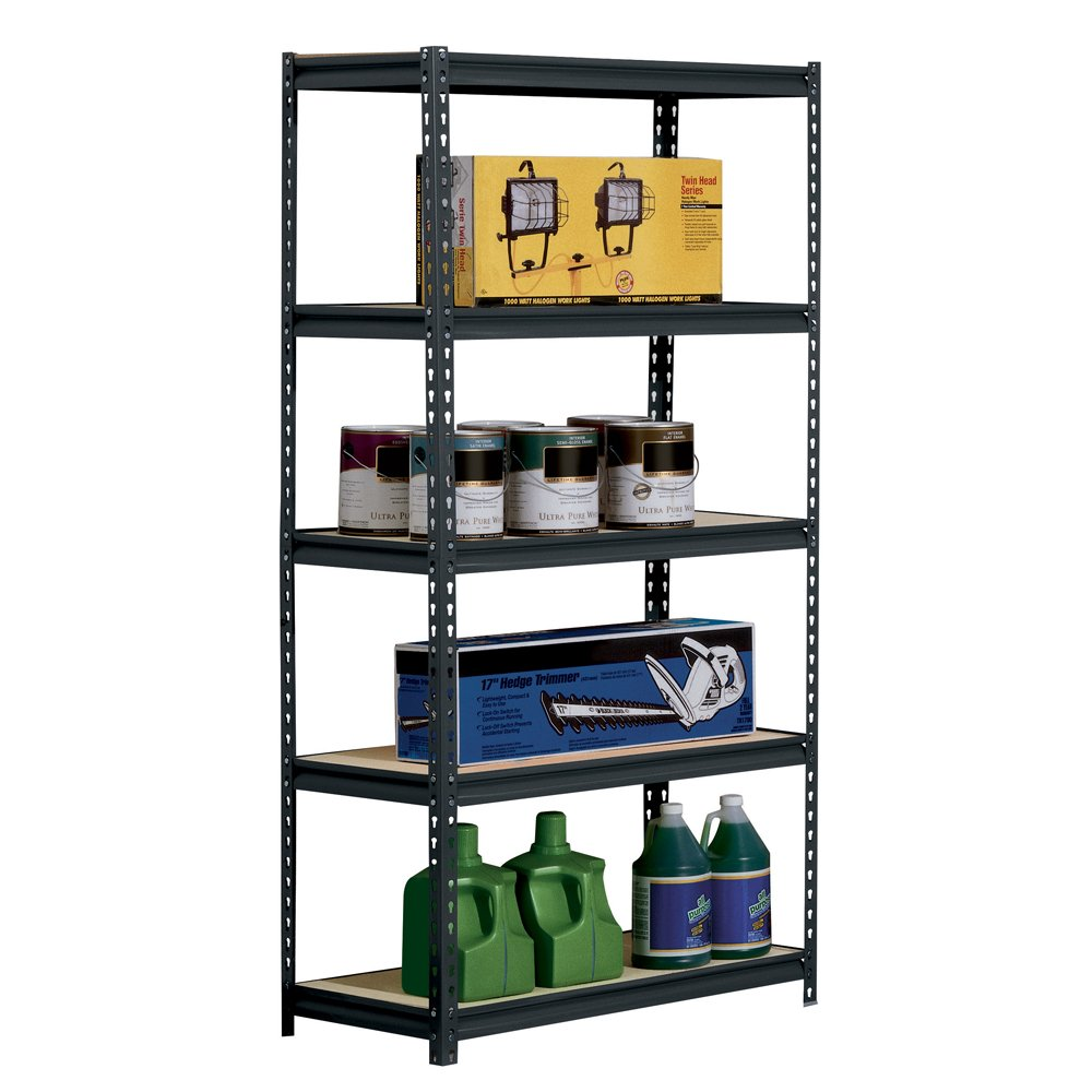 Edsal 5 shelf heavy duty steel shelving - Amazon Com Sandusky Edsal Ur185p Blk Black Steel Heavy Duty 5 Shelf Shelving Unit 4000lbs Capacity 36 Width X 72 Height X 18 Depth Industrial
