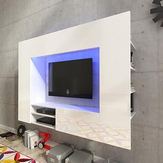 Festnight Mueble de Pared para Televisión Mueble Salón Moderno 169,2 cm con LED Blanco: Amazon.es: Juguetes y juegos