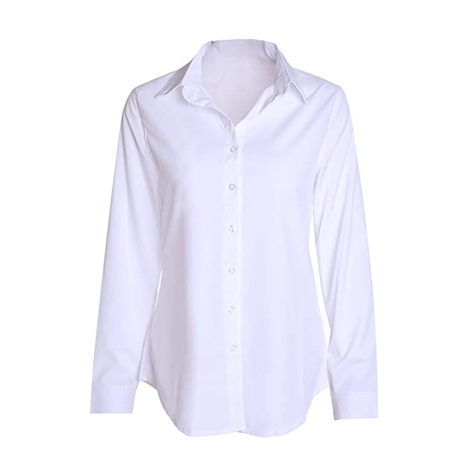 Victorian Inspired Womens Clothing SUNNOW Women Fasional Slim Shirt V Neck Long Sleeve Button-down Blouse $13.00 AT vintagedancer.com