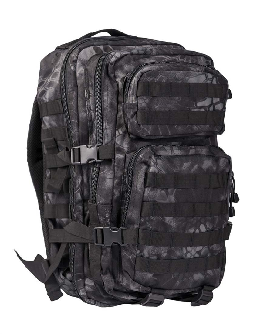 MIL-TEC US Assault Pack Sac à dos avec système de fixation spécial Laser-Cut,Noir, taille Large 14002285