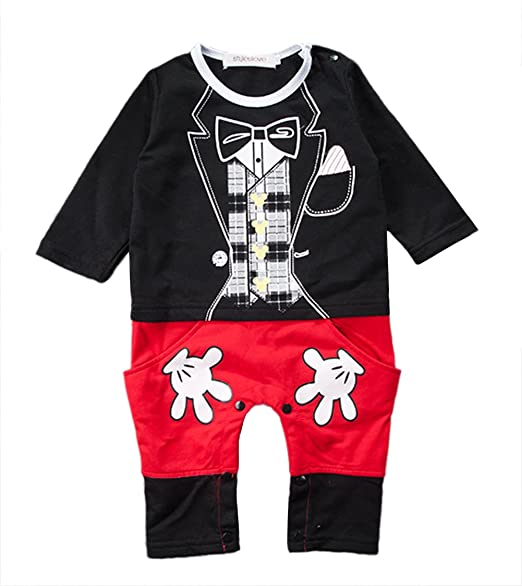 fe75b4b26 Amazon.com: stylesilove Baby Boy Mickey Mouse Inspired Costume Jumpsuit:  Clothing