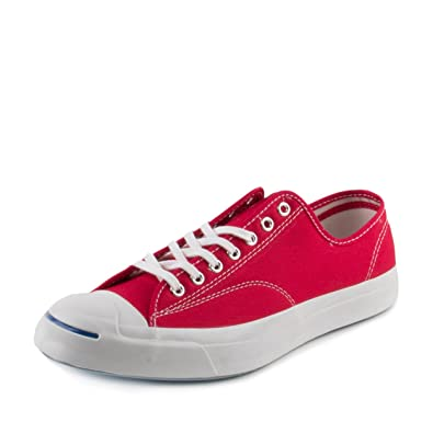 e60906e580a9 Converse Mens Jack Purcell Signature OX Duck Crimson Nylon Size 11