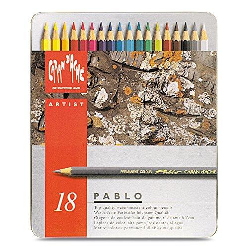 Caran D'ache Pablo Color Pencils Set Of 18 (666.318)