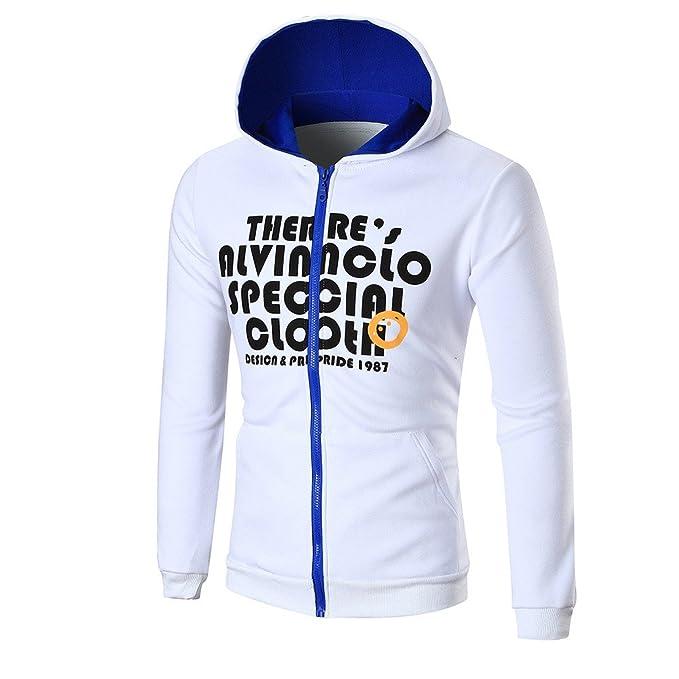 Yanhoo Sudadera con Capucha de Camiseta con Capucha Superior de Manga Larga para Hombres Sudadera con