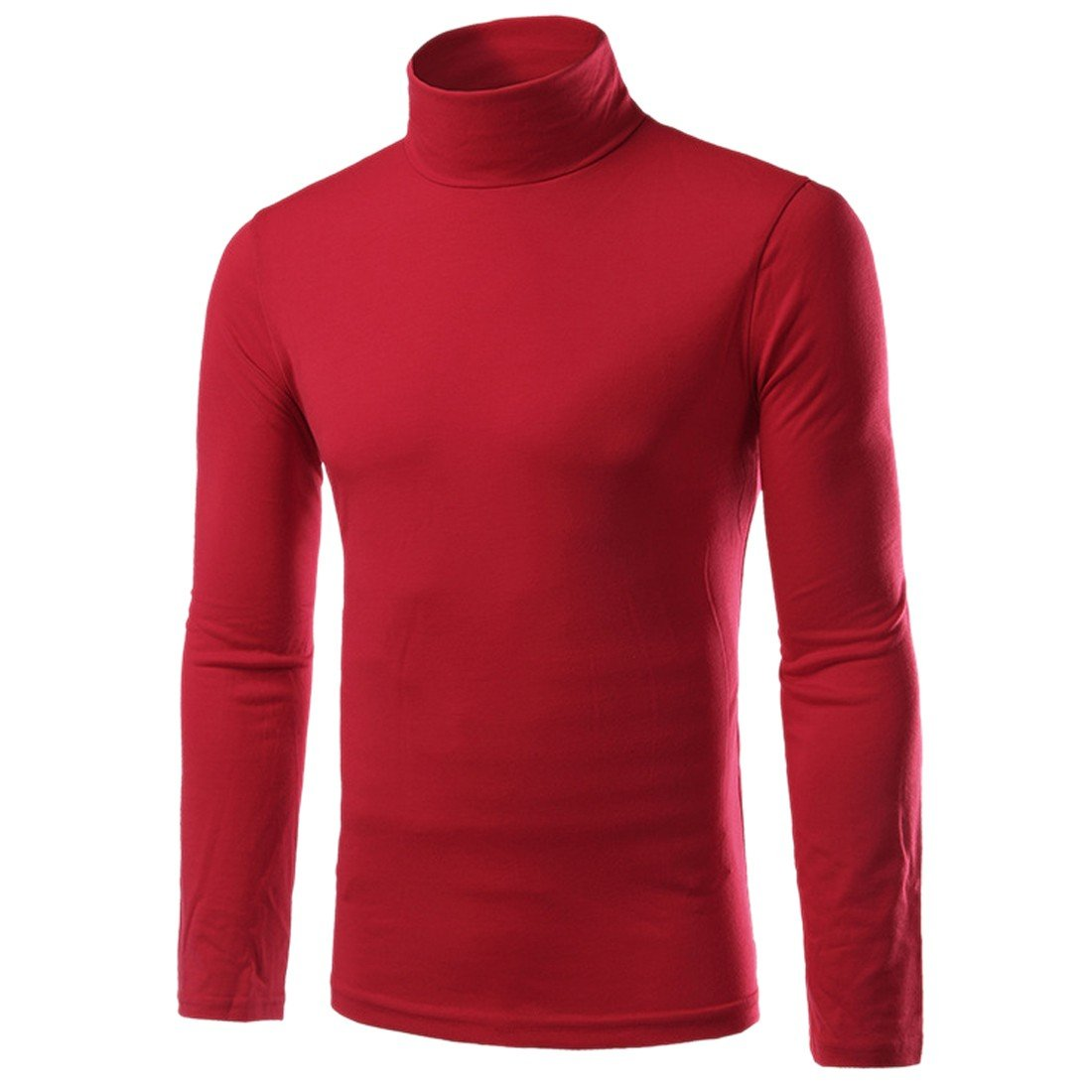 Paixpays Mens Casual Basic Turtleneck Slim Fit Pullover Pullover Sweaters Tops A2006S3103