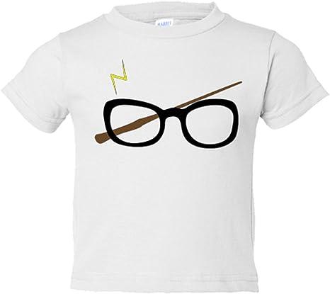 Camiseta niño ilustración Harry gafas - Blanco, 3-4 años: Amazon.es: Bebé