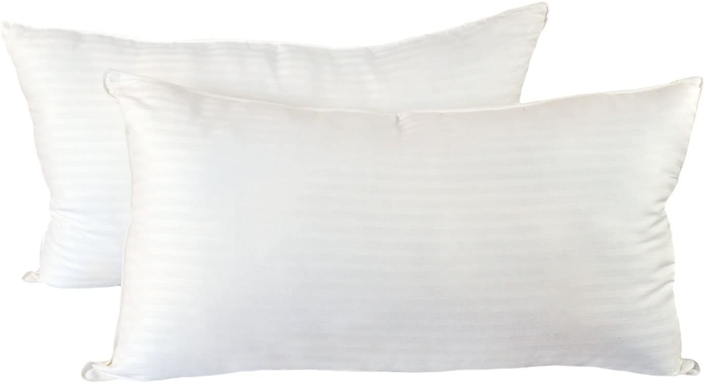 Cozy Bed Medium Firm (Set of 2) Hotel Quality Pillow, King, White, 2 Piece