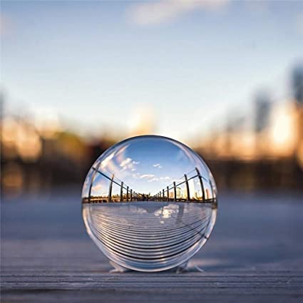 Outgeek Crystal Ball Multifunctional Clear Photography Glass Ball for Desk Decoration
