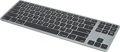 Matias - Teclado inalámbrico (aluminio), color gris: Amazon ...