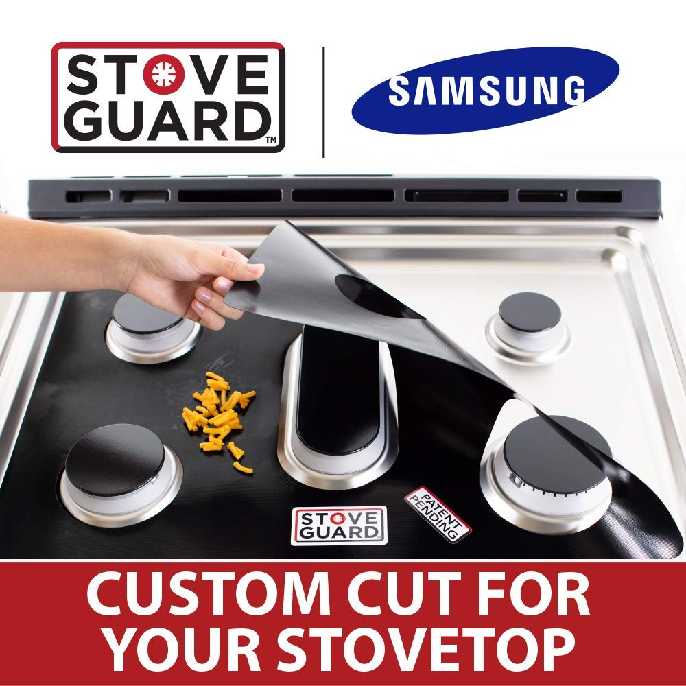 Samsung Stove Protectors - Stove Top Protector for Samsung Gas Ranges - Ultra Thin Easy Clean Stove Liner by StoveGuard (Image #1)