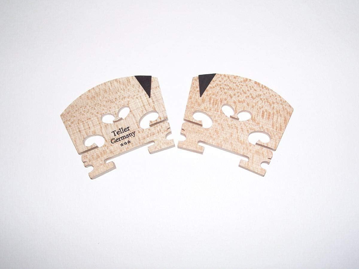 of Bosnian Maple A Product of Germany VWWS 2 4//4 Violin Bridge With E Ebony inlay Teller Germany 0142V